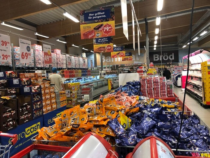 Supermarkt an der Grenze